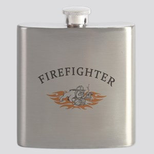 Firefighter Bull Dog Tough Flask