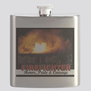 Firefighter Honor, Pride, Courage Flask