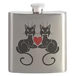 Black Cat Love Flask