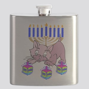 Hanukkah Dreidel Cat Flask