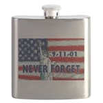 9-11-01 Never Forget Flask