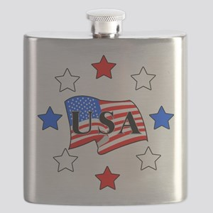flags and starsRWB Flask