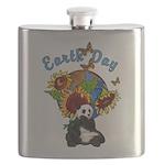 sunflower earth panda Flask