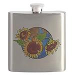 sunflower planet2 Flask