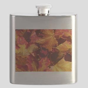Thanksgiving Autmn Leaves Flask