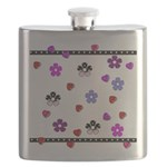 Hearts and Flowers Flask