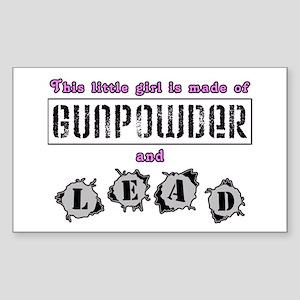 Gunpowder & lead Sticker (Rectangle)