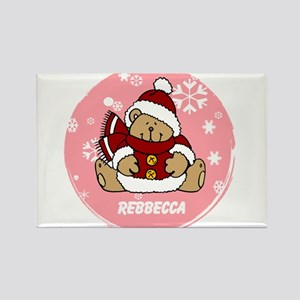 Cute Personalized Teddy Bear Xmas gift Rectangle M