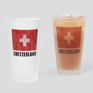 Vintage Switzerland Drinking Glass