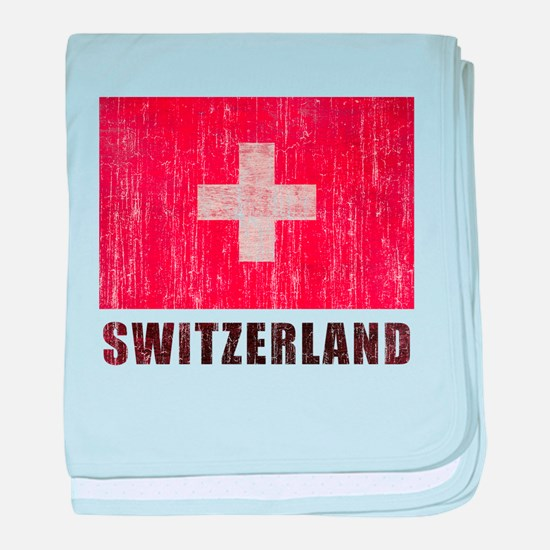 Vintage Switzerland baby blanket