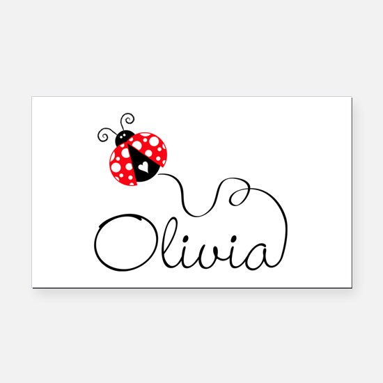 Ladybug Olivia Rectangle Car Magnet
