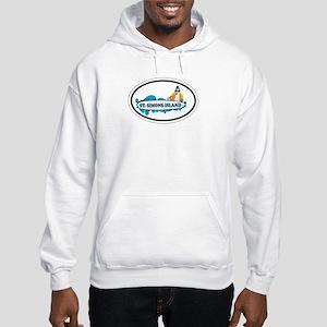 St. Simons Island - Oval Design. Hooded Sweatshirt