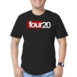 420 Fitted Dark T-Shirts