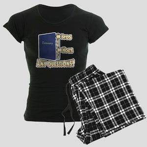 Bros Before Hoes Women's Dark Pajamas