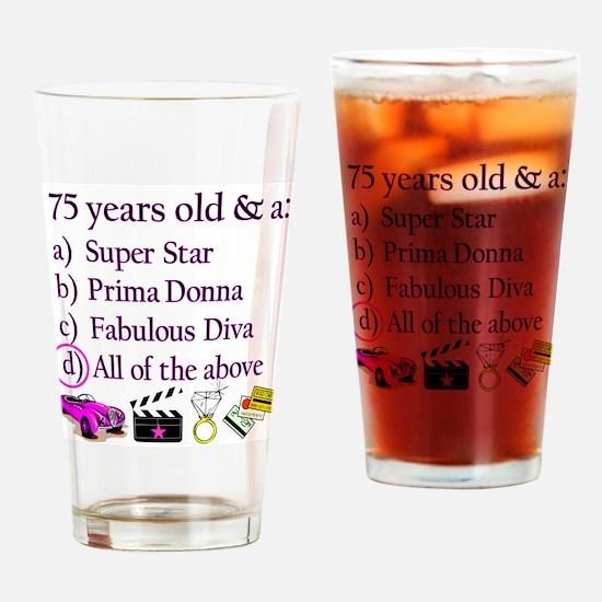 HAPPY 75TH BIRTHDAY Drinking Glass