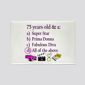 HAPPY 75TH BIRTHDAY Rectangle Magnet (10 pack)