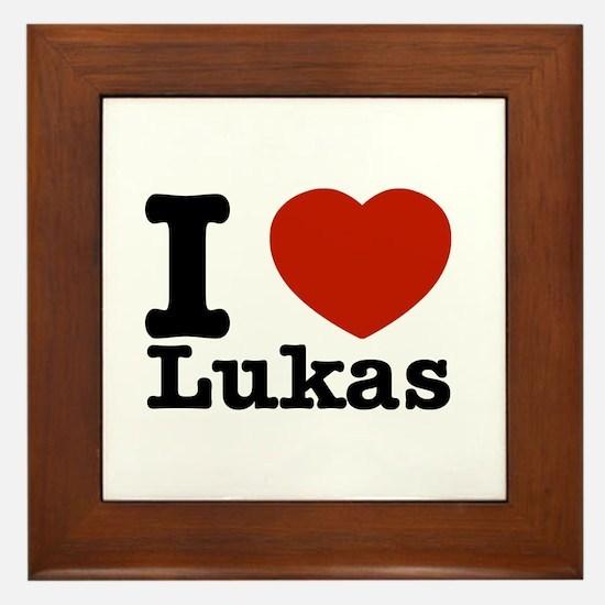 I Love Lukas Framed Tile