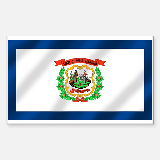 West Virginia State Flag Sticker (Rectangle)