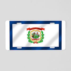 West Virginia State Flag Aluminum License Plate