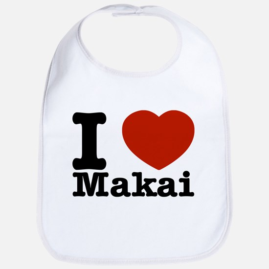 I Love Makai Bib