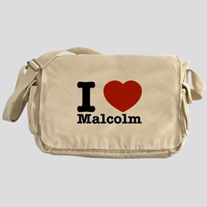 I Love Malcolm Messenger Bag