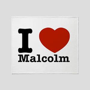 I Love Malcolm Throw Blanket