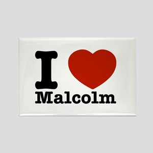 I Love Malcolm Rectangle Magnet