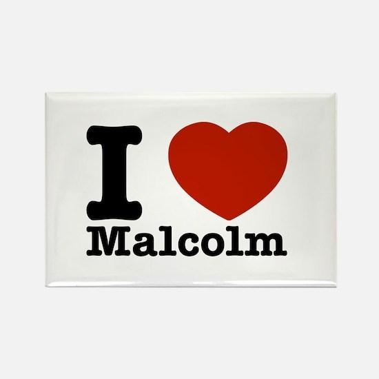 I Love Malcolm Rectangle Magnet