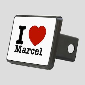 I Love Marcel Rectangular Hitch Cover