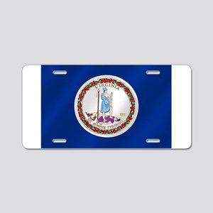 Virginia State Flag Aluminum License Plate