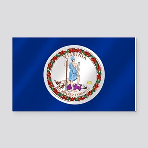 Virginia State Flag Rectangle Car Magnet