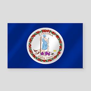 Virginia State Flag Rectangle Car Magnet