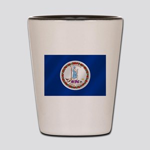 Virginia State Flag Shot Glass