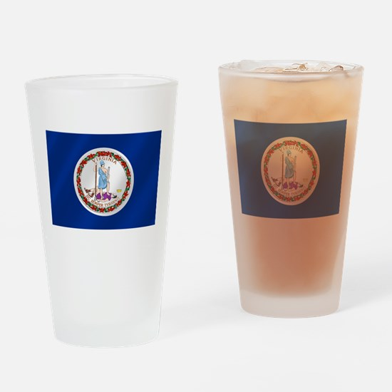 Virginia State Flag Drinking Glass