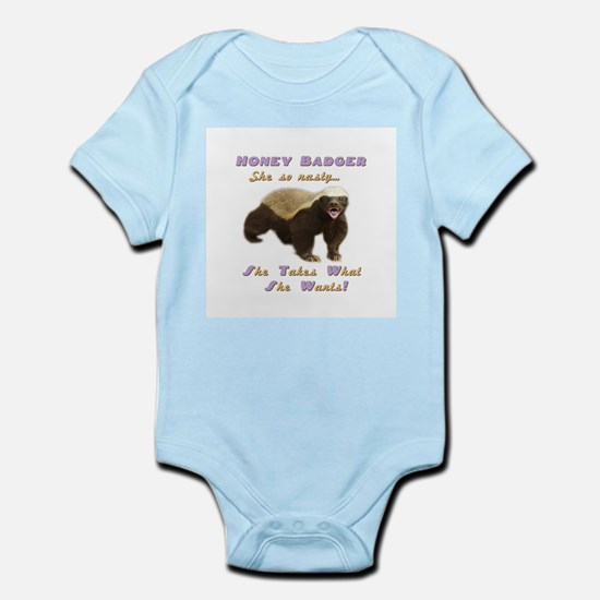honey badger takes what she wants Infant Bodysuit