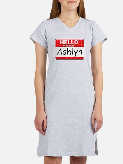 Hello My name is Ashlyn Women's Nightshirt