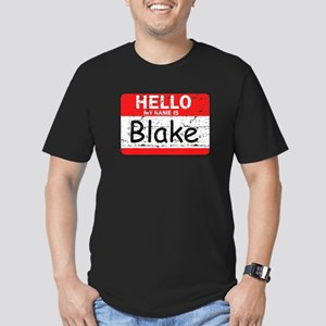Hello My name is Blake Men's Fitted T-Shirt (dark)