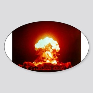 Nuclear Explosion Oval Sticker