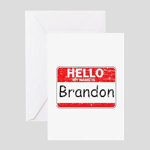 Hello My name is Brandon Greeting Card
