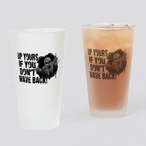 Up Yours Wave Back Biker Drinking Glass