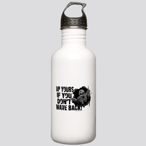 Up Yours Wave Back Biker Stainless Water Bottle 1.