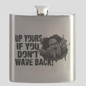 Up Yours Wave Back Biker Flask