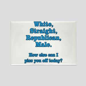 White Straight Republican Male Rectangle Magnet