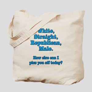 White Straight Republican Male Tote Bag