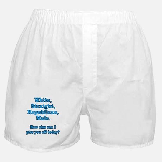 White Straight Republican Male Boxer Shorts