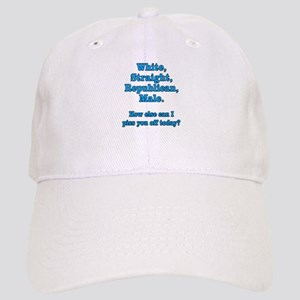 White Straight Republican Male Cap