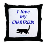Chartreux Cats Throw Pillow