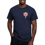 Nurses Call The Shots Men's Fitted T-Shirt (dark)