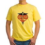 Nurses Call The Shots Yellow T-Shirt