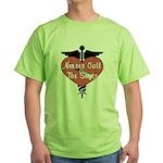 Nurses Call The Shots Green T-Shirt